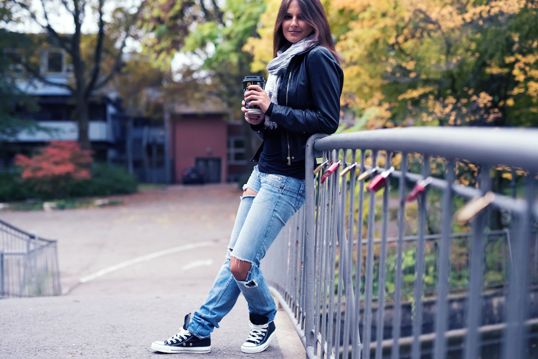 Herbst-Converse-Jeans