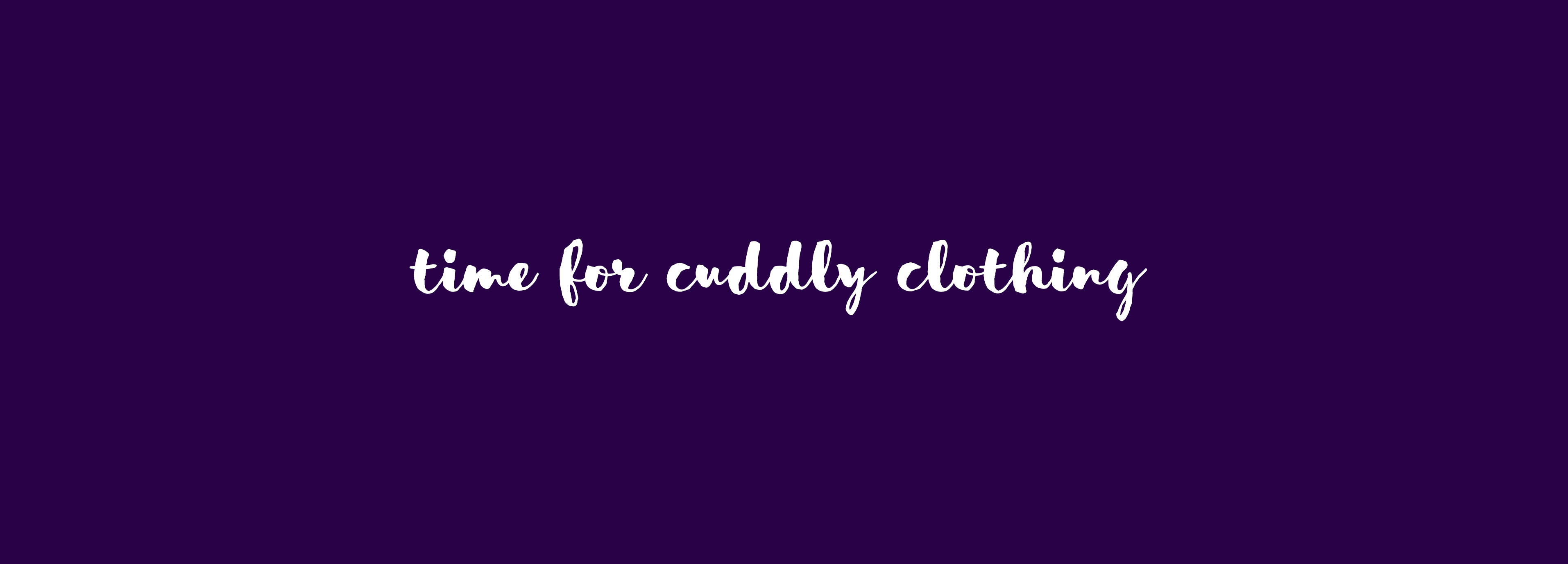 Herbstzeit – Time for cuddly clothing